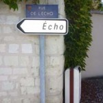 Echo road sign at Chinon